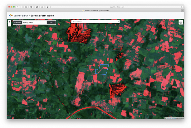 Photo 1 - Satellite Imagery tools for Smart and Precision Farming.
