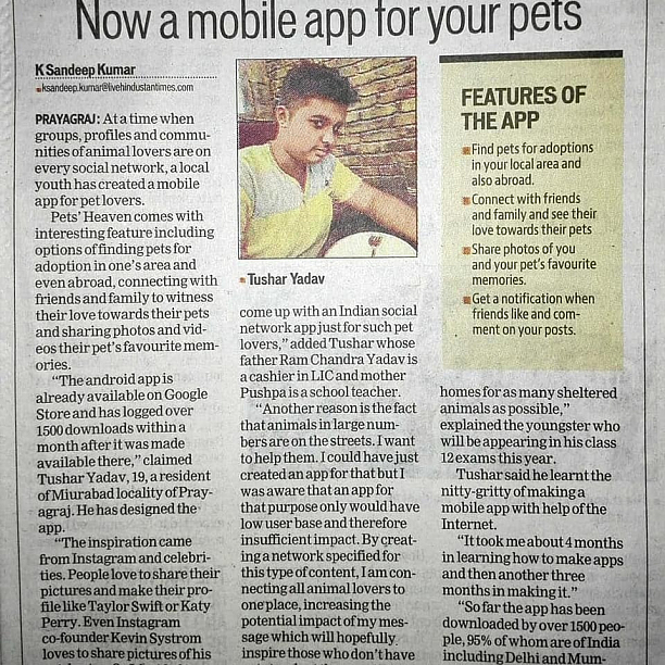 Photo 1 - Pets adoption with social media feature and AR filters.